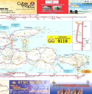 Peta Mudik Lebaran Jawa Bali 2014