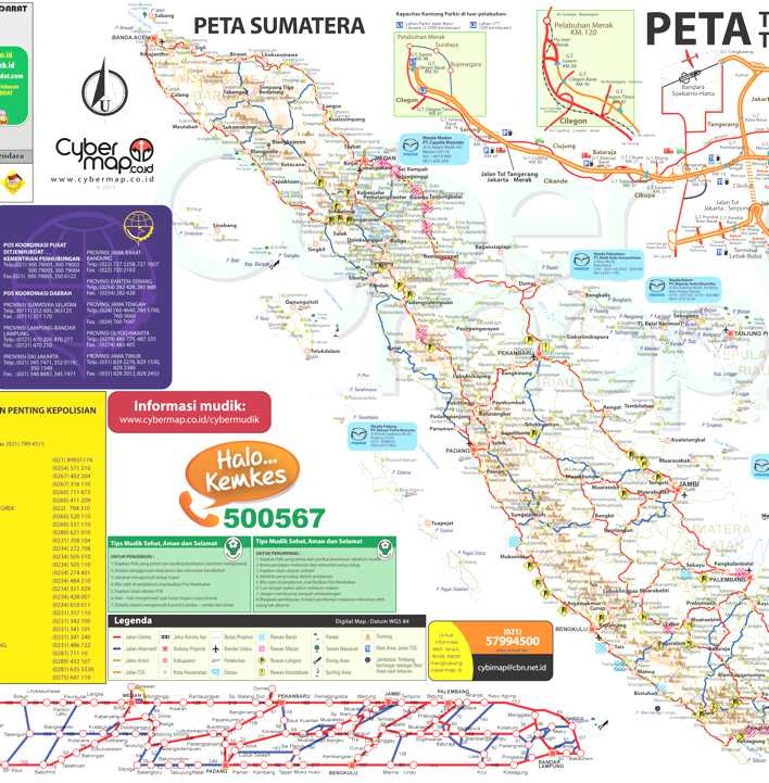 Peta Mudik Lebaran Sumatera 2014