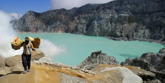Objek Wisata Kawah Gunung Ijen Jawa Timur