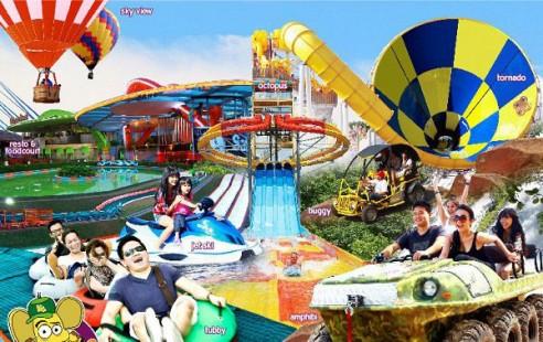 Permainan Kampung Gajah Wonderland Bandung