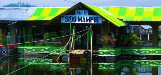 Warung Apung Rowo Jombor Klaten Jateng