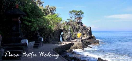 Foto Keindahan Pura Batu Bolong Lombok Barat