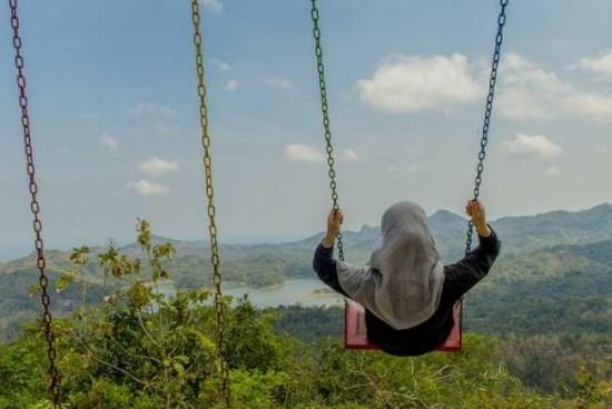 Foto Liburan di Desa Wisata Kali Biru Jogja