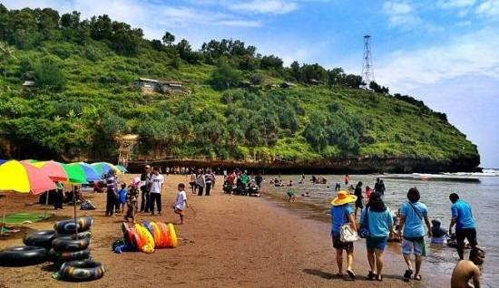 Objek Wisata Pantai Baron Gunung Kidul Yogyakarta