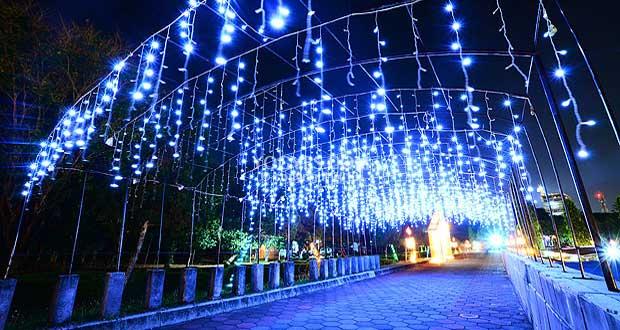 Wisata Malam Taman Pelangi Monjali Joga